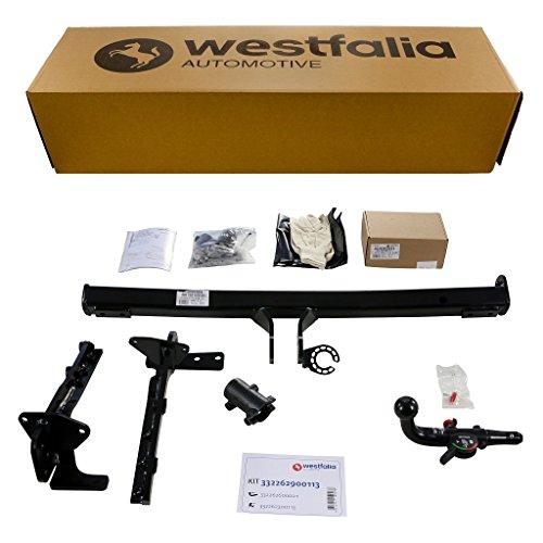 Afneembare Westfalia trekhaak voor Nissan X-Trail (BJ 06/2007-07/2014) in een set met 13-polige voertuigspecifieke Westfalia elektrische kit