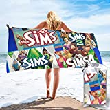 MargieJ The Sims 4 - Paranormal Stuff Bath Towel Oversize 100% Superfine Fiber Towel Quick Dry Highly Absorbent Soft Feel Perfect for Daily Pool Picnic Use for Shower Hotel Gym 27.5'X55'