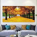 wZUN Cartel de Paisaje y Foto Arte de Pared Lienzo impresión Pared Dinero árbol Imagen para Sala de Estar decoración del hogar 50x100 cm