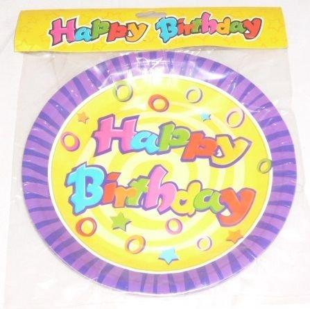 Toyland 24 Bon Anniversaire Les Plaques de Fête - 4 Paquets de 6 (MI210X2 MI202X2) [Le Jouet]