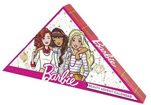 Barbie Calendrier de l'Avent 24 Produits de Maquillage & Accessoires Rouges à Lèvres Vernis Gloss