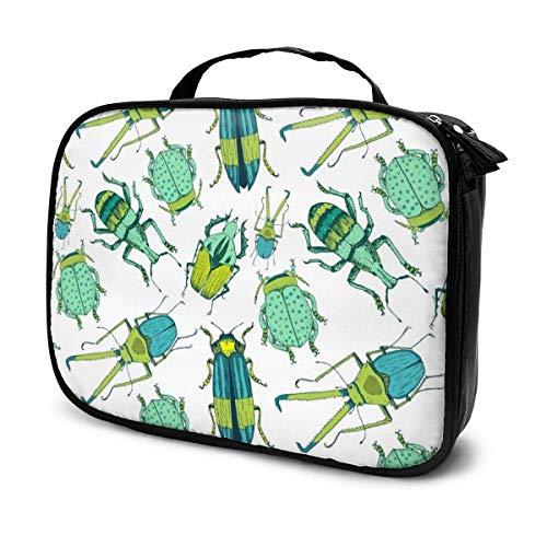 Bonito patrón de escarabajo de viaje de moda bolsa de cosméticos portátil bolsa multiusos regalo para cosméticos herramientas de maquillaje