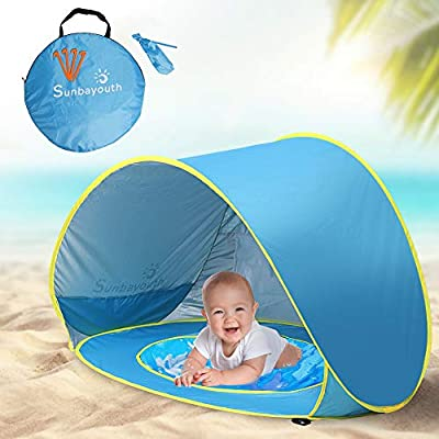 Baby Beach Tent Beach Umbrella, Sunba Youth Pop Up Tent, UV Protection Sun Shelters Baby Pool