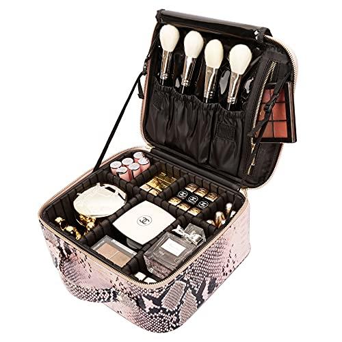 ROWNYEON Makeup Bag Kosmetiktasche Make-up Fall Makeup Zug Case Makeup Case Tragbare EVA Make-up Tasche Pink