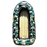 BOATb Piragua Hinchable El Bote Inflable De La Balsa del Barco De La Pesca Fijó La Canoa De 4 Persona con Los Deportes Acuáticos De La Paleta, 280 * 150 * 40cm