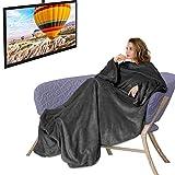 Osaloe TV-Decke 180 x 200 cm Kuscheldecke mit Ärmeln und