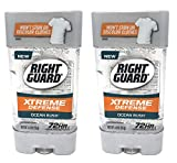 Right Guard Gel Antiperspirant/Deodorant Xtreme Defense Ocean Rush, 4 Ounces (Pack of 2)
