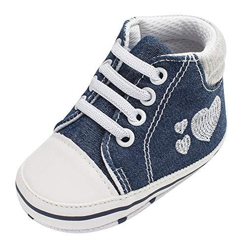 Zapatos Bebe Niño Niña Primeros Pasos Botas de Mezclilla Suave Zapatillas Antideslizante - Impresión del...