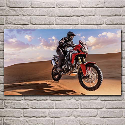 Bpieft Juego Rompecabezas Madera Rally de Motos africanas en el Desierto Juegos lógica Adultos,Juego Pensamiento lógico,Juguetes Madera IQ,Cubo de Rompecabezas 50x75cm