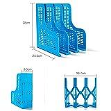 YZERTLH Aktenteiler Aktenschrank-Rack Skalierbar Große Multifunktions-Aktenleiste Desktop-Lagerregal Vertikales Aktenregal Office,Picture Size Blue