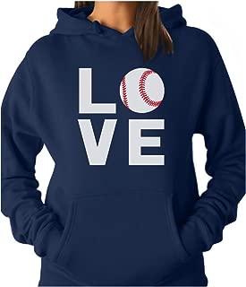 TeeStars - Love Baseball - Best Gift for Baseball Lovers & Fans Women Hoodie