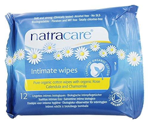 Natracare - Trapos íntimos del algodón orgánico - 12Wipe(s)