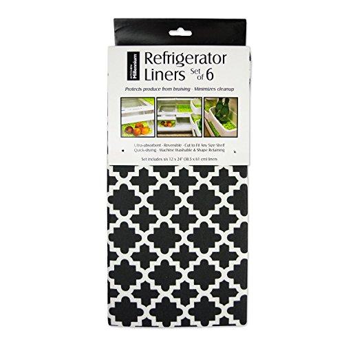 DII Fridge Liner Collection Non-Adhesive, Cut to Fit, 12x24, Black Lattice