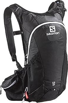 Salomon, AGILE 12 SET, Sac à dos de course à pied léger 12 L, 45 x 22,5 x 13,5 cm, Noir, L37375100