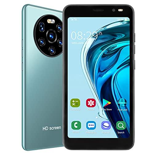BOLORAMO Smartphone, Mate40 Pro 5.45in HD Pantalla Teléfono Móvil Tarjeta Dual Doble Modo De Espera con Función De Carga Rápida WiFi FM GPS, para Regalo De Cumpleaños 512 MB + 4 GB(Verde)