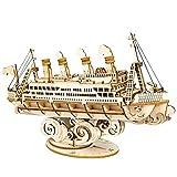 Rompecabezas De Madera 3D, Maquetas para Construir para Adultos, Kits De Construcción De Barcos para Niños Y Adultos,Juegos De Bricolaje De Rompecabezas Artesanales para Niños De 8 Años En Adelante