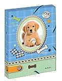Herlitz 10530012 Heftbox A4 mit 2 Gummizügen, Pretty Pets Hund, Rückenbreite 4 cm -