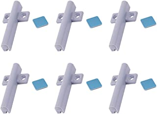 Autoly 6 Pcs Magnetic Soft Close Damper Buffers Closer Cushion for Cabinet Cupboard Drawer,Grey