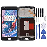 Eryanone Oneplus Replacement TFT Material LCD Screen and Digitizer Full Assembly with Frame for OnePlus 3 / 3T A3000 A3010 Oneplus Parts (Color : Black)