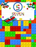 Seven: Primary Composition Notebook Story Paper Journal Gifts with Personalized Initial Name & Monogram for Kids (Boys) Dashed  Midline / Dotted and ... Exercise Book (Block / Brick Games Design)