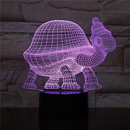 Sanzangtang Led-nachtlampje, 3D-vision-zeven, kleuren-afstandsbediening, turtle nachtlampje, verkleuring, decoratie, licht, voor kinderen, babykit, nachtlampje, turtle