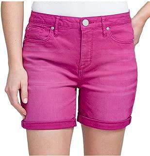 Seven7 Womens Rolled Cuff 5-Pocket Stretch Weekend Denim Shorts