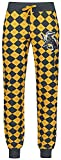 HARRY POTTER Hufflepuff Mujer Pantalón de Pijama Gris/Amarillo L
