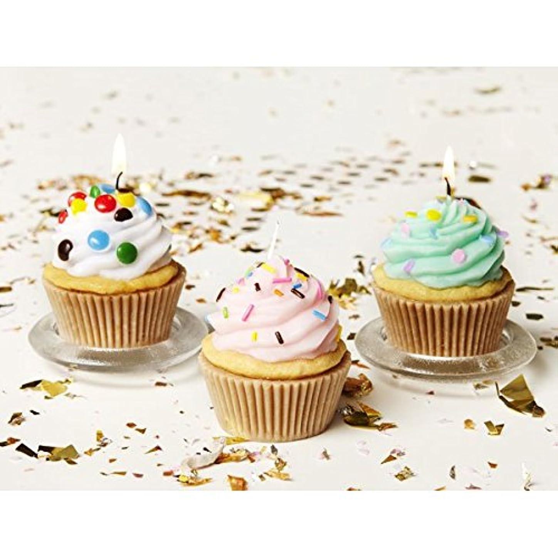 終わり敏感なランクカメヤマキャンドルハウス:アメリカンカップケーキキャンドル アソート(6個セット)