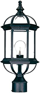 Acclaim 5277BK Dover Collection 1-Light Post Mount Outdoor Light Fixture, Matte Black