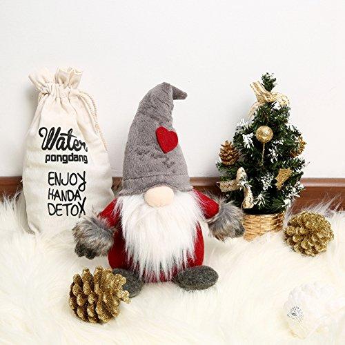 Blanchel, gnomo svedese tomte in peluche con cappello di Natale, fatto a mano, in stile Babbo Natale, decorazione per la scrivania, la casa A2