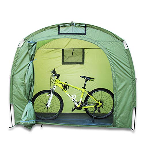 Outdoor Bicycle Tent Durable 210T Polyester Fabric with Window Design Waterproof Anti Dust Portable Bicycle Storage Shed for Storage Mountain Bike And Other Items 200 * 120 * 190Cm