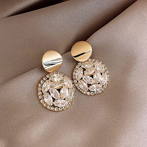 TIANTIAN Fashion Earrings Stylish Teen Girls Tassel Dangle Earring Moon Tassel Rhinestone Pearl Stud Jewelry Set Luxurious Irregular Styles for Women Gift