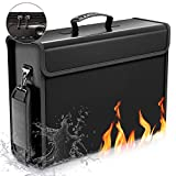 SafeHaven Lockable 17'x12'x5.5' Fireproof Document Bag – XL Water-Resistant Fireproof Bag with Zipper and Velcro - Easy to Store and Carry Important Document Holder - Fireproof Money Bag