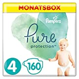 Pampers Pure Protection 81690519 pañal desechable Niño/niña 4 160 pieza(s) - Pañales desechables (Niño/niña, Tape diaper, 9 kg, 14 kg, Turquesa, Blanco, Velcro)