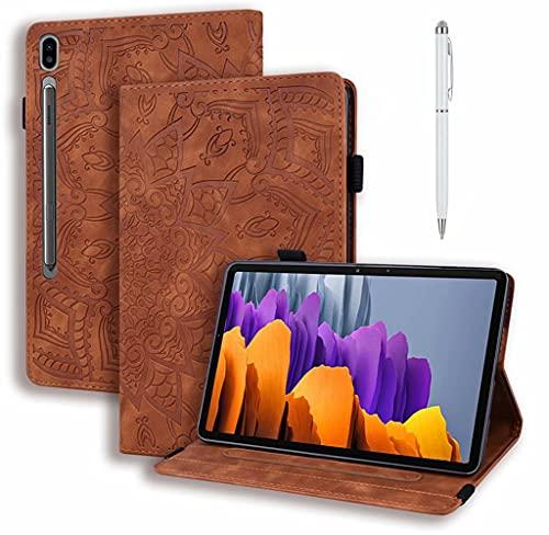 DYGG Compatible con Funda iPad Air 4 10.9 Pulgada 2020 Portátil Funda de Tableta Cuero PU+TPU Tablet Cover Sleeve Bag iPad 10.8 Pulgada 2020 Funda Protectora Carcasa con Auto-Sueño/Estela,marrón