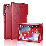 FANSONG Funda para iPad 2 3 4(Viejo Modelo) 9,7 Pulgadas Inteligente de Cuero iPad 4.ª/3.ª/2.ª Generación Carcasa con Soporte Auto Sueño/Estela Correa de Mano y Tarjetero para iPad 2
