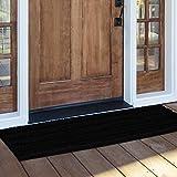 NICETOWN Black Bathroom Floor Mat, Anti-Slip Soft Living Room Bedroom Mat Floor Water Absorbent, Low-Profile Rug Doormat for Entry, Mud Room Mat, Back Door, High Traffic Areas (47 x 24 - inches)