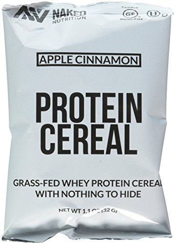 Apple Cinnamon High Protein Cereal, Made in the USA – 6-PACK, Only 5 Ingredients, Healthy Breakfast Cereal Non-GMO, Gluten and Soy Free. Nothing Artificial. Naked Nutrition Protein Cereal