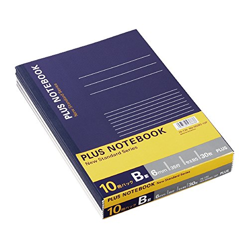 プラス ノート セミB5(6号)B罫30枚10冊パック NO-003BS-10P 76-730