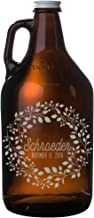 Personalized Etched Wedding Gift Beer Growler 64oz
