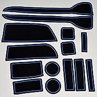 KINMEI(キンメイ) ホンダ N-WGN 青 専用設計 インテリア ドアポケット マット ドリンクホルダー 滑り止め ノンスリップ 収納スペース保護 ゴムマットHONDA N ワゴンnw-b
