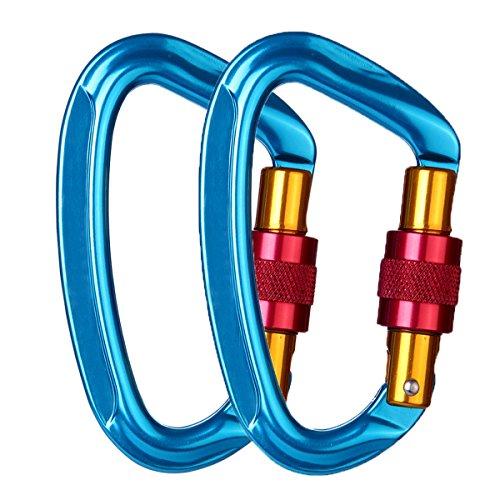 JIAMEIYI Aluminio Locking Ganchos de Escalada, 24KN con Forma de D M