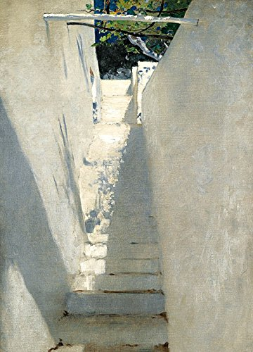 1art1 John Singer Sargent - Treppenaufgang In Capri, 1878, 2-Teilig Fototapete Poster-Tapete 250 x 180 cm