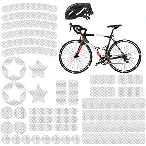 Reflektoren Aufkleber Sticker (38 Stück) HiPerformance Reflexfolie Set zur Sicherungs-Markierung von Kinderwagen, Helmen mit Stickern - selbstklebend und hochreflektierend, von AGPTEK