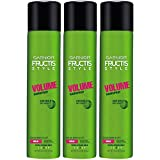 Garnier Fructis Style Volume Hairspray, All Hair Types, 8.25 oz. (Packaging May Vary), 3 Count