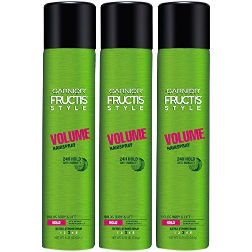 Garnier Fructis Style Volume Hairspray, All Hair Types, 8.25 Oz. (Packaging May Vary), 3Count