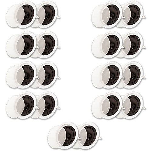 Best Buy! Acoustic Audio SP8c Flush Mount in Ceiling Speakers with 8 Woofers 9 Pair Pack