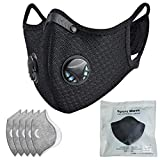 Dust mask with Filter,Sports Face Mask, 5 Filters and 2 Valves...