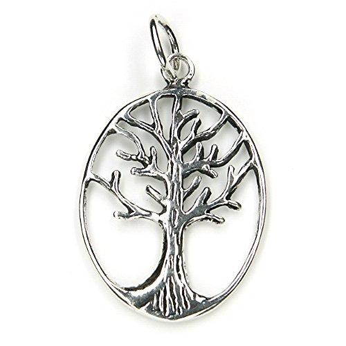 Lámpara de techo del árbol de la vida Celtic 925 joyas de plata de ley, lámpara de techo colgante con ojales: 4 cm