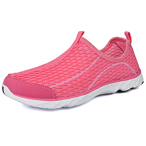 QANSI Kinder Sportschuhe Mädchen Junge Atmungsaktiv Sneaker Laufschuhe- 41 EU (Etikettgröße: 42), Pink